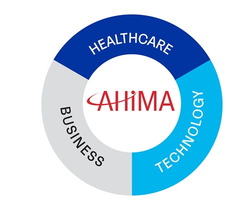 ahima is at the intersection of healthcare business technology icon